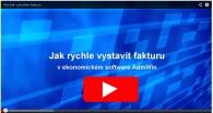 Účetní programy - video ukázka rychlého a snadného vytvoření faktury